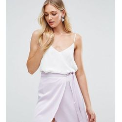 ASOS DESIGN Tall swing cami with double layer - White