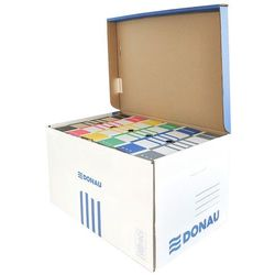 Pudło archiwizacyjne wzmocnione DONAU, karton, zbiorcze, górne, niebieskie