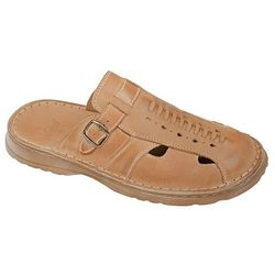 Klapki buty ŁUKBUT 965 Beżowe - Beżowy   Brązowy