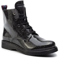 Trapery TOMMY HILFIGER - Lace-Up Bootie T4A5-30446-0713 D Black 999