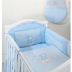 MAMO-TATO Ochraniacz do łóżeczka 70x140 Śpioch na chmurce w błękicie - PROMOCJA