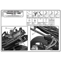 Stelaże motocyklowe, Stelaż pod kufer centralny do Yamaha FZ1 N [06-12] - Givi 365FZ (zgodny z Kappa KZ356)