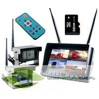 Kamery przemysłowe, BEZPRZEWODOWY MONITOR 2x KAMERA COFANIA 24V 32GB