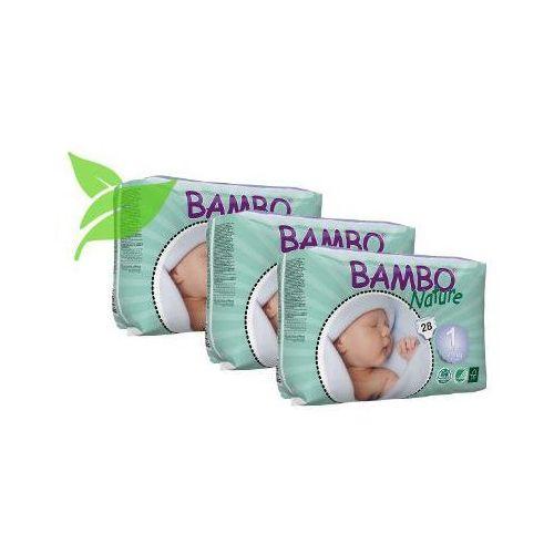 Pieluchy jednorazowe, Zestaw 3xBambo Nature Newborn 2-4kg, 28 szt.