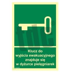 Klucz do wyjścia ewakuacyjnego znajduje się w dyż. pielęgniarek Art. AC032