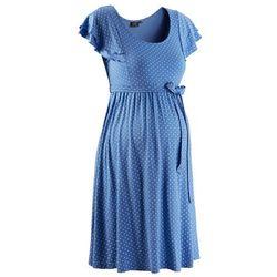 Sukienka ciążowa bonprix błękitny w kropki