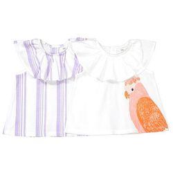 Komplet, 2 bawełniane koszulki na ramiączkach, Oeko Tex 1 miesiąc - 3 latka