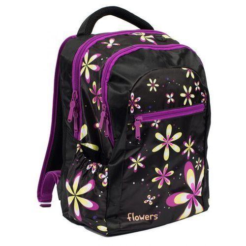 Tornistry i plecaki szkolne, Karton P+P Plecak anatomiczny w kwiatki