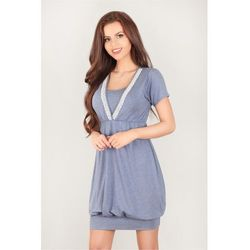 Koszulka nocna Koszula Ciążowa Model 3039 Blue - Lupo Line