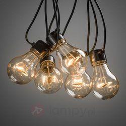 Łańcuch z LED LM, widoczne żarniki, bursztyn