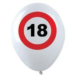 Balony Znak zakazu 18tka - 30 cm - 12 szt.