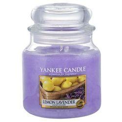 Yankee Candle Lemon Lavender aromatyczna świeca zapachowa słoik średni 411 g