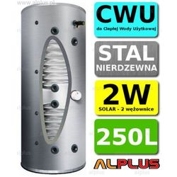Bojler JOULE CYCLONE 250L SLIM 2-wężownice 2W nierdzewka wymiennik podgrzewacz CWU Wysyłka GRATIS!