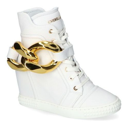 Damskie obuwie sportowe, Sneakersy Chebello 2592-154 Białe Lico