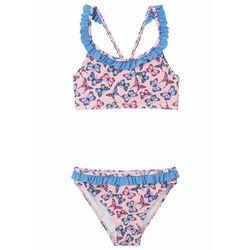 Bikini dziewczęce (2 części) bonprix różowy kwarc