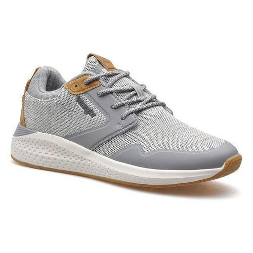 Półbuty męskie, Sneakersy Wrangler WM01072A Szare