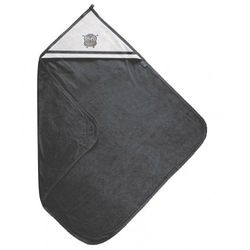Grafitowe okrycie kąpielowe 100x100 ręcznik z kapturkiem