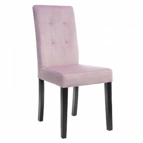 Krzesła, KRZESŁO TAPICEROWANE DREWNIANE MY8683 RÓŻOWY WELUR