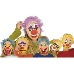 Maska klauna z włosami dla dzieci - 6 wzorów