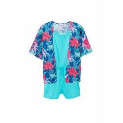 Kombinezon dziewczęcy + wdzianko shirtowe (2 części) bonprix morski
