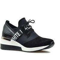 Damskie obuwie sportowe, Sneakersy CheBello 2358-034-127-128-S68 Czarne+Biały