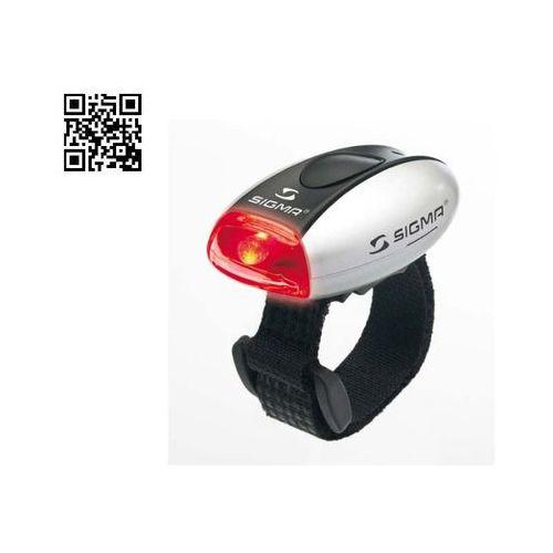 Oświetlenie rowerowe, Sigma Lampka rowerowa Micro Tylna - Srebrna