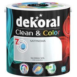 Satynowa farba lateksowa Dekoral Clean&Color słodka sól 2 5 l