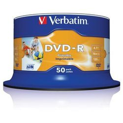 Płyta VERBATIM DVD-R Wide Inkjet Printable No ID Brand