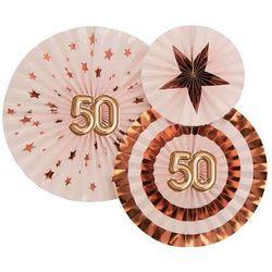 Rozetki wiszące na pięćdziesiąte urodziny - 3 szt.