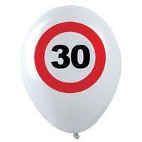 Balony, Balony Znak zakazu 30tka - 30 cm - 12 szt.