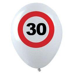 Balony Znak zakazu 30tka - 30 cm - 12 szt.