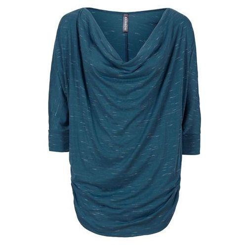 """Bluzki, Shirt z dekoltem """"wodą"""" bonprix niebieskozielony morski"""