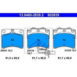 KLOCKI HAM ATE 13.0460-2839.2 VW TRANSPORTER T4 2.0,2.5,1.9D 90-03, 2.5TDI 95-03
