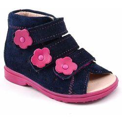 Buty profilaktyczne dla dzieci Dawid 1041 - Różowy   Granatowy