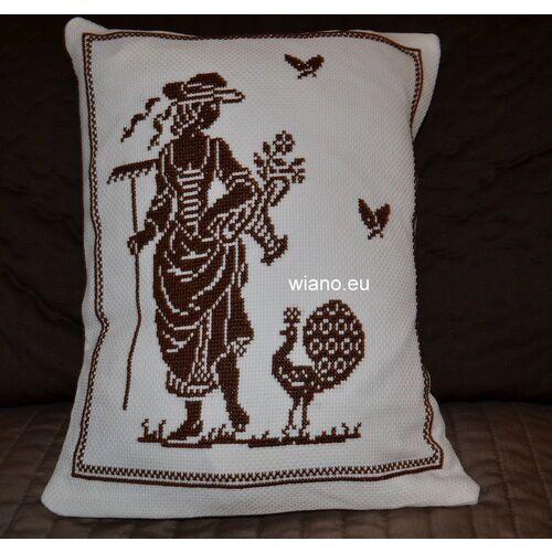 Poszewki, Poszewka na poduszkę, haftowna, wzór mazurski 33x26 (jw-8)