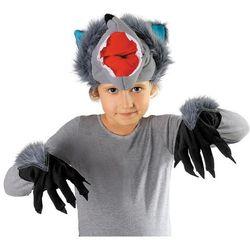 Zestaw Wilk: czapka, ogon, rękawiczki