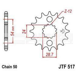 Zębatka przednia JT F517-16, 16Z, rozmiar 530 2200099 Kawasaki ZR 1100, GPZ 900