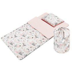 """Śpiworek przedszkolaka – pościel do przedszkola """"Flowers pink """" - Bawełna"""