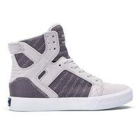 Damskie obuwie sportowe, buty SUPRA - Skytop Grey Violet Twotone - White (031) rozmiar: 40