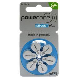 6 x baterie do aparatów słuchowych Power One Implant Plus 675 MF