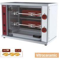 Grille gastronomiczne, Rożen do kurczaków | witroceramiczny | 2 widelce | 3000W | 80x400x(H)555mm