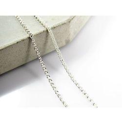 Srebrny (925) łańcuszek LISI OGON 50 cm + OPAKOWANIE