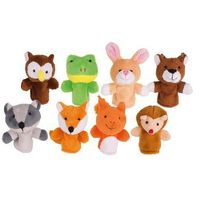 Pozostałe zabawki, Zestaw pacynek na palec Leśne zwierzęta