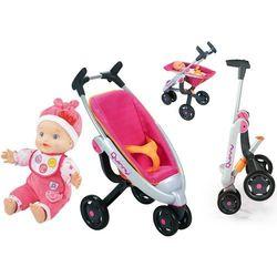 Smoby Spacerówka wózek trójkołowy dla lalek Quinny Maxi Cosi i Vtech Lala Ala