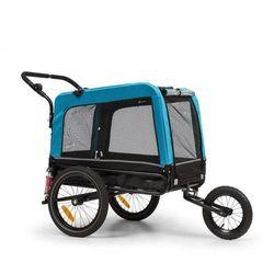 KLARFIT Husky Vario, rowerowa przyczepka do przewozu psów/wózek dla psów 2 w 1, ok. 240 l, płótno Oxford 600D, niebieski