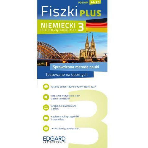 Książki do nauki języka, Niemiecki Fiszki PLUS dla początkujących 3 (opr. kartonowa)