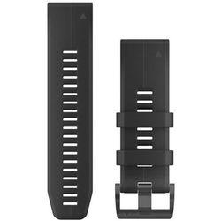 Garmin QuickFit Silikonowy pasek do zegarka 22mm, black 2019 Akcesoria do zegarków