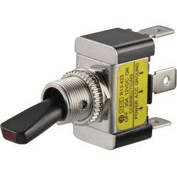 Przełacznik dźwigniowy SCI R13-423L, 30 A/12 V, zielona dioda LED, 1-biegunowy wł./wył.