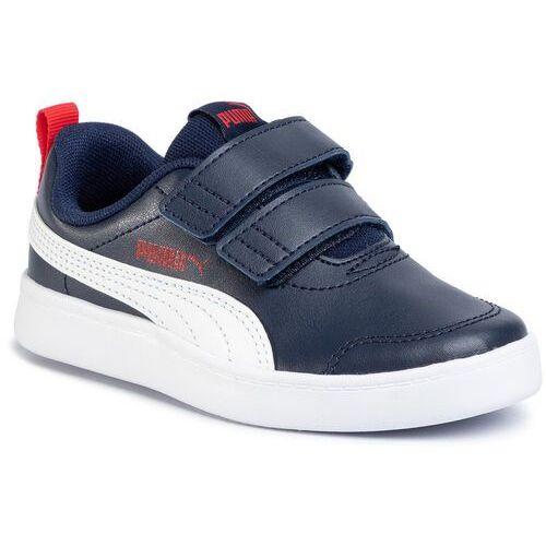 Pozostałe obuwie dziecięce, Puma buty chłopięce Courtflex v2 V PS 37154301, 35 niebieskie