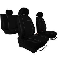 Pokrowce samochodowe EXCLUSIVE - POK-TER Skórzane Czarne Mazda 3 II 2009-2013 - Czarny